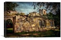 Inner Walls Of Wallingford Castle, Canvas Print