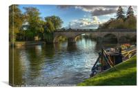 Moored By Wallingford Bridge, Canvas Print