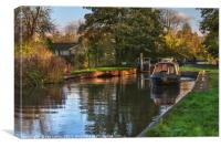 Passing Through Woolhampton Lock, Canvas Print