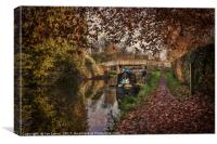 Autumnal Towpath, Canvas Print