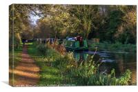 Traffic On The Kennet and Avon Canal, Canvas Print