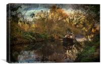 Narrowboat On The Kennet And Avon, Canvas Print