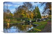 The Town Lock at Hungerford, Canvas Print