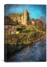 The Castle At Brecon, Canvas Print