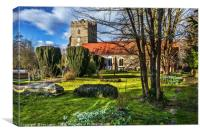 The Churchyard At Cookham, Canvas Print