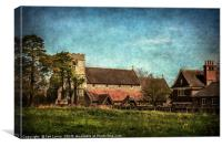 The Church at Streatley on Thames, Canvas Print