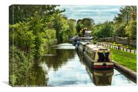 The Oxford Canal At Thrupp, Canvas Print