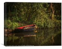 Dinghy On The Oxford Canal, Canvas Print