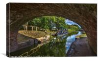 Under The Bridge At Pewsey Wharf, Canvas Print
