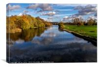 Reflections At Pangbourne Meadows, Canvas Print