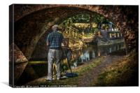 Artist At Pewsey Bridge, Canvas Print