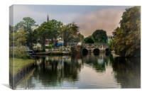 Above The Bridge In Abingdon, Canvas Print