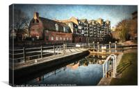 County Lock and Brewery Stables Reading, Canvas Print