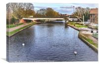 The River Kennet at Newbury, Canvas Print