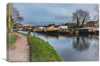 Boats On The Kennet, Canvas Print