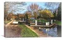 Springtime At Greenham Lock, Canvas Print