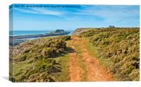 Worms Head and Coast Guard station, Canvas Print