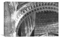 the arches of Durham Cathedral, Canvas Print