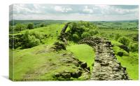 Hadrians Wall In The Landscape, Canvas Print