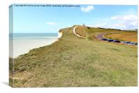 Seven Sisters From The Cliffs East Of Birling Gap, Canvas Print