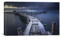 Carrasqueira Pier, Canvas Print