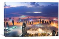 Dubai Sunrise, Canvas Print