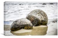 The Moeraki Boulders, Canvas Print