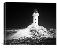 "New Brighton lighthouse, "" Facing the storm"", Canvas Print"