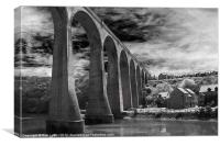Larpool Viaduct, River Esk., Canvas Print