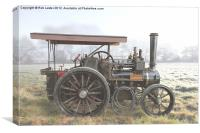 Traction Engine in the fog, Canvas Print