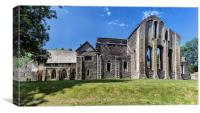 Valle Crucis Abbey ( panorama), Canvas Print