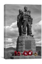 Commando Memorial, Spean Bridge. col pop., Canvas Print
