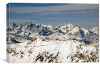 Montgenevre French Alps France, Canvas Print