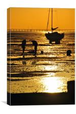 Sunset Thorpe Bay Southend on Sea Essex, Canvas Print