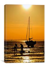 Sunset Thorpe Bay Southend on Sea Essex , Canvas Print