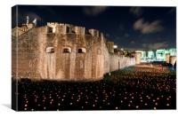 Tower of London torch lit candles lanterns, Canvas Print
