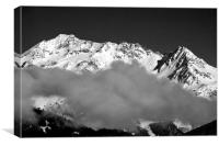 Mont Blanc from La Tania 3 Valleys French Alps, Canvas Print