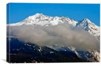 Mont Blanc French Alps France, Canvas Print