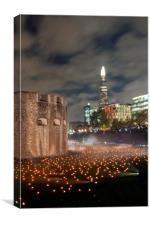 Tower of London Beyond The Deepening Shadow, Canvas Print