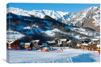 Saint Martin de Belleville 3 Valleys France, Canvas Print