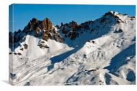 Meribel Les Trois Vallees French Alps France, Canvas Print