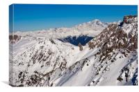 Mont Blanc Mont Vallon Meribel Mottaret France, Canvas Print