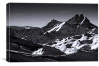 Meribel Mottaret Mont Vallon French Alps, Canvas Print