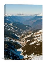 Meribel Mottaret 3 Valleys French Alps France, Canvas Print