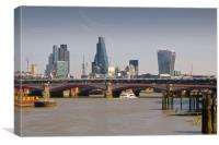 London Cityscape and Blackfriars Bridge London Eng, Canvas Print