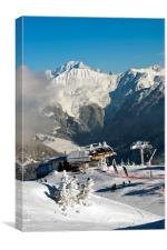 Courchevel La Tania Mont Blanc France, Canvas Print