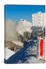Mont Blanc Courchevel French Alps France, Canvas Print