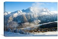 Courchevel 1850 3 Valleys ski area French Alps , Canvas Print