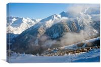 Courchevel 1850 3 Valleys ski area France, Canvas Print