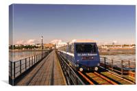 Southend on Sea Pier and Train Essex, Canvas Print